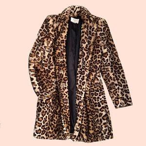 ZARA Leopard Faux Fur coat